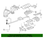 2001 Honda ACCORD SEDAN VP (SIDE SRS) GASKET, PRE CHAMBER (52.5MM-53.5MM) - (18393SH3S00)