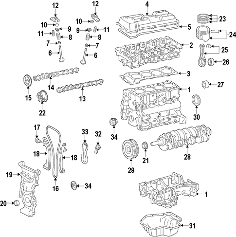 Crankshaft - Toyota (13401-WB001)