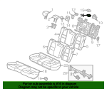 2013 Honda INSIGHT EX GARNISH, CENTER WEBBING GUIDE - (82193TM8A01)
