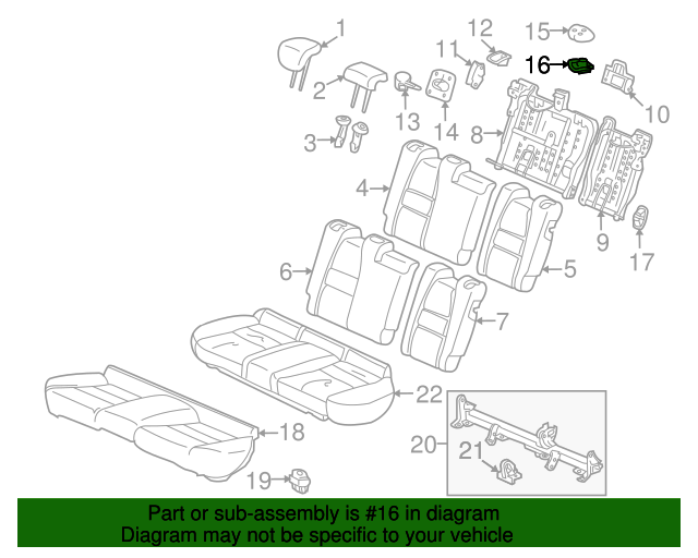 2013 Honda INSIGHT LX GARNISH, CENTER WEBBING GUIDE - (82193TM8A01)