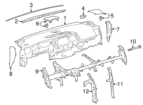 Lower Brace - Toyota (55307-0E060)