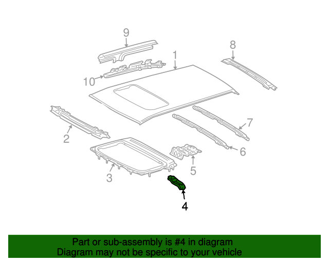 Sunroof Reinforced Support - Toyota (63118-48080)