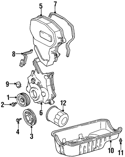 Timing Cover - Toyota (11302-11100)