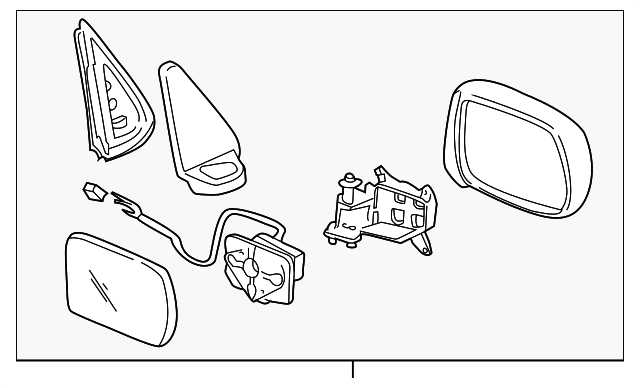 OEM Honda 76250-S10-A01 - Mirror Assembly, L Door (R.C.)
