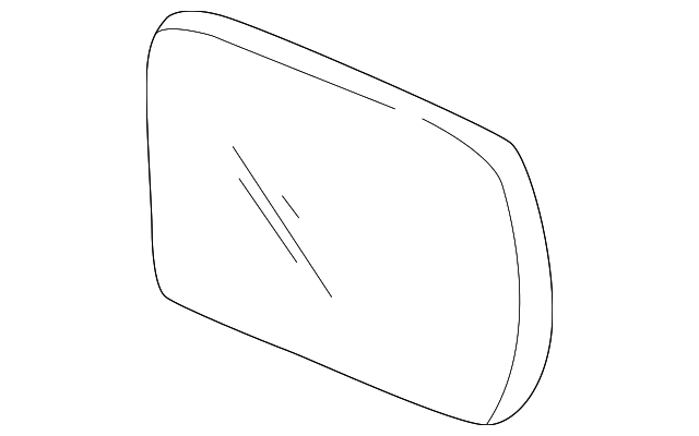 OEM Honda 76253-S10-A01 - Mirror Glass