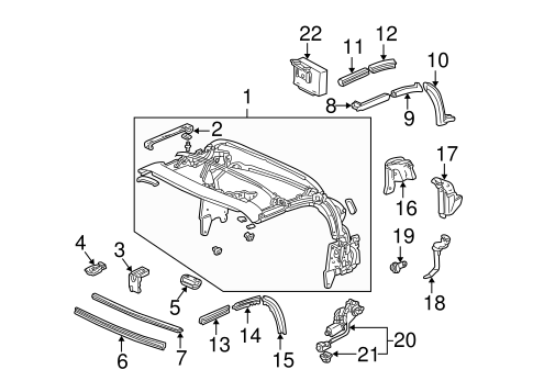 OEM Honda 72351-S2A-003 - Lower Weather-strip
