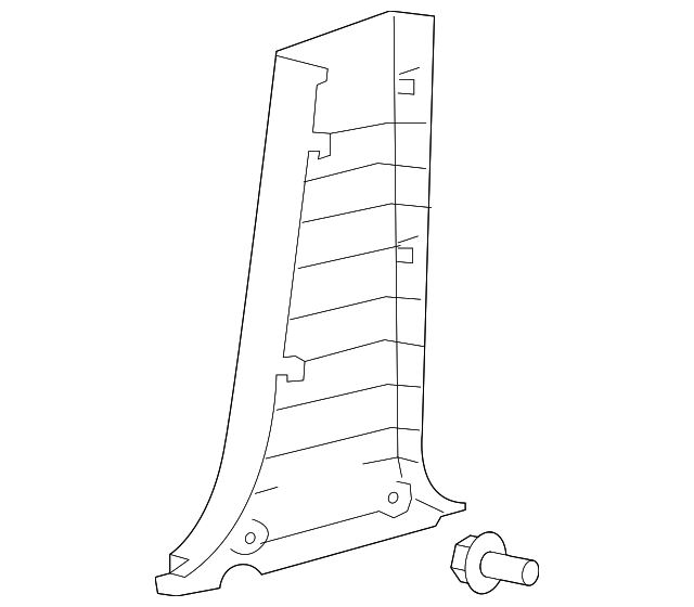 Lower Center Pillar Trim - Toyota (62414-AC040-B1)