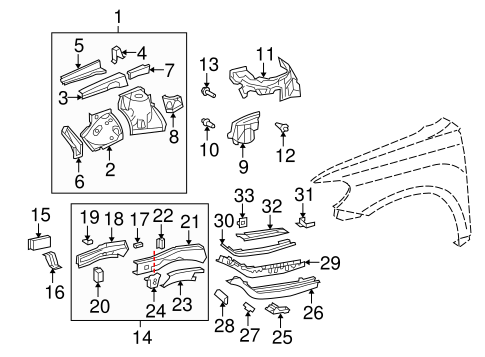 Rail Assembly - Toyota (57028-48907)