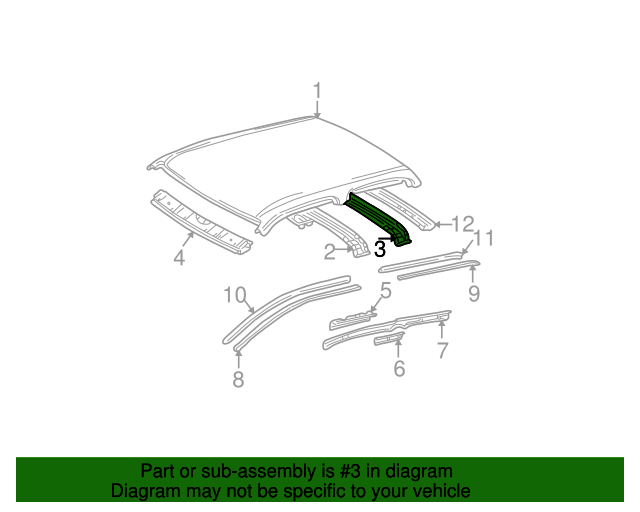 Roof Reinforced - Toyota (63141-04900)