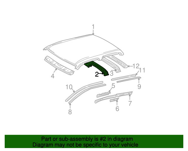 Roof Reinforced - Toyota (63141-04010)