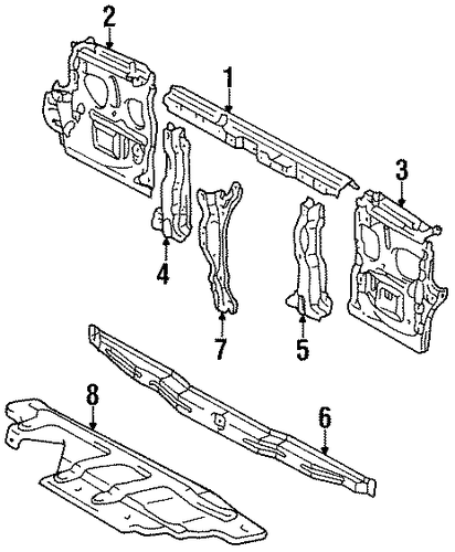 Reinforcement - Toyota (53268-60010)