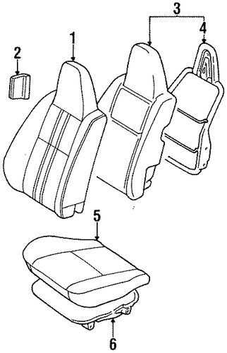 BODY/FRONT SEAT COMPONENTS for 1996 Toyota Tercel #1