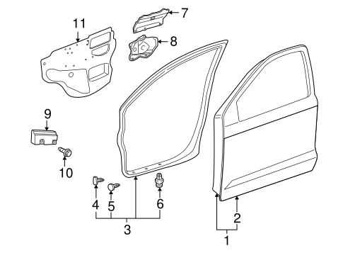 BODY/DOOR & COMPONENTS for 2008 Toyota Matrix #2