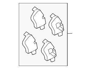 Brake Pads - Jaguar (C2C23786)