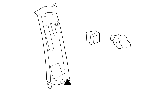 Upper Center Pillar Trim - Toyota (62410-0C030-B1)