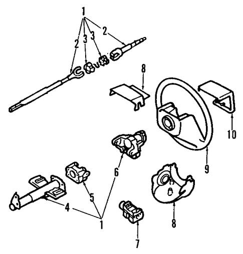 steering column  u0026 wheel for 1993 pontiac lemans