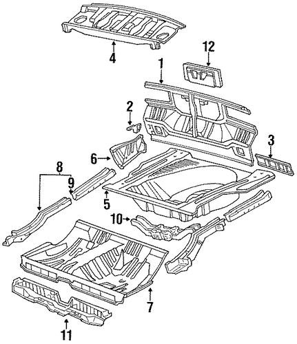 Package Tray - Toyota (64101-20280)