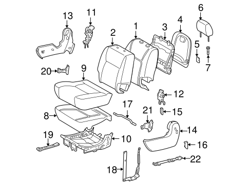 BODY/REAR SEAT COMPONENTS for 2010 Toyota Sienna #5