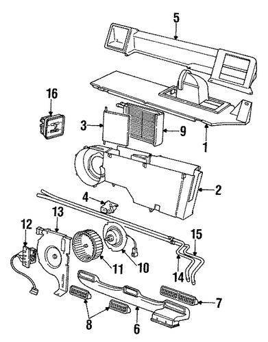 heater components for 1994 dodge caravan