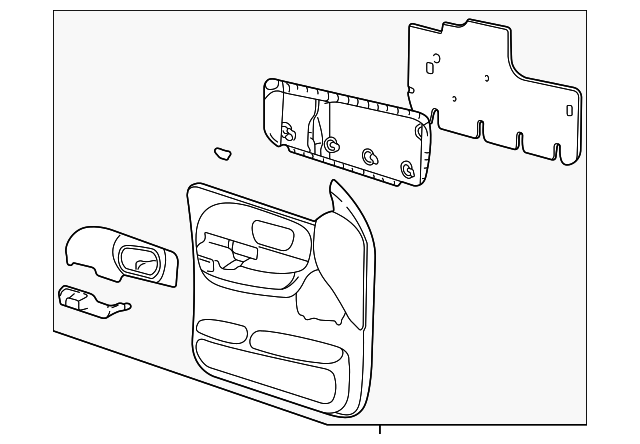 door trim panel for 2001 ford f