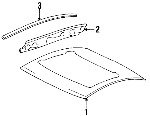 OEM Honda 62100-SS0-C01ZZ - Roof Panel