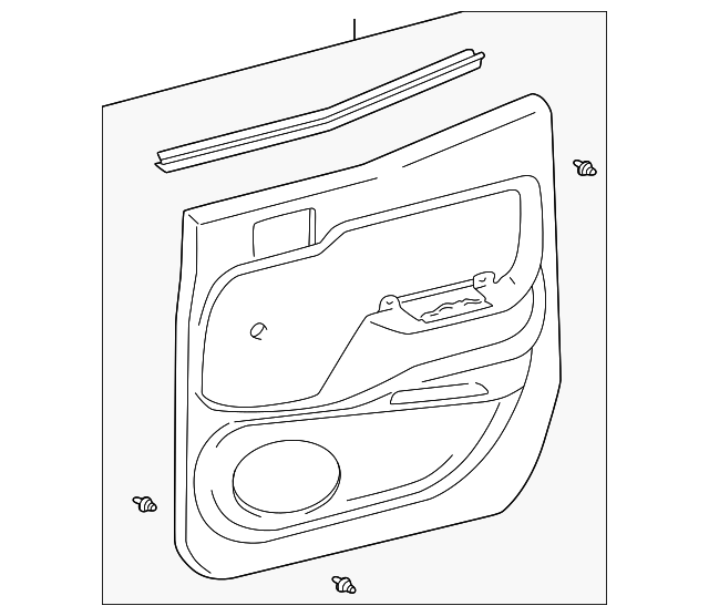 Door Trim Panel - Toyota (67640-04010-B1)