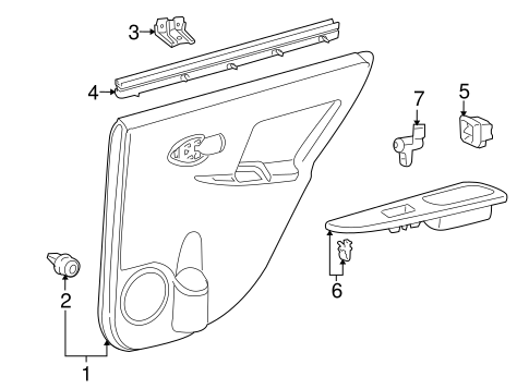Door Trim Panel - Toyota (67630-52L40-B1)