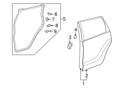 Door Shell - Toyota (67004-52221)