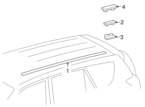 BODY/EXTERIOR TRIM - ROOF for 2012 Toyota RAV4 #1