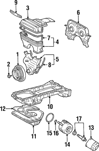 Timing Cover - Toyota (11325-46042)