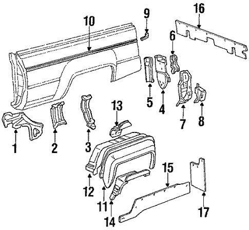 Reinforcement - Toyota (67078-89101)