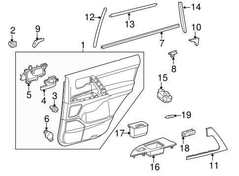 Door Trim Panel - Toyota (67640-60B61-E0)