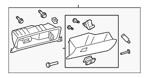 Glove Box Assembly - Toyota (55303-07010-A0)