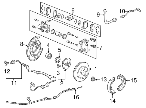OEM Honda 57475-SJC-A01 - Sensor Assembly, L Rear