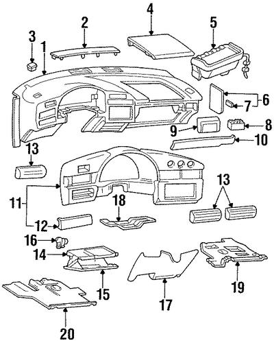 oem instrument panel for 1999 chevrolet lumina