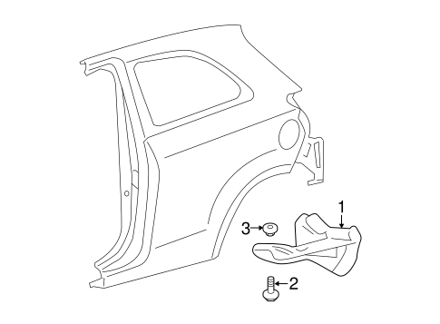 Mud Guard - Toyota (65631-52120)