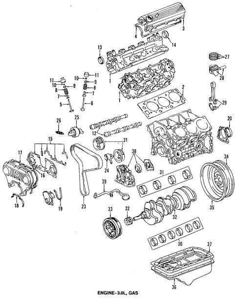 Genuine OEM OIL PAN Parts for 1994 Toyota 4Runner SR5 ...