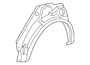Outer Wheelhouse - Toyota (61631-02030)