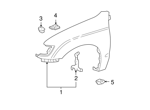 Fender Bracket - Toyota (53803-35010)