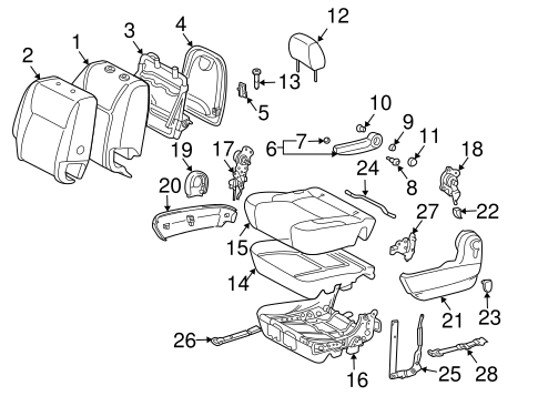 BODY/REAR SEAT COMPONENTS for 2010 Toyota Sienna #6