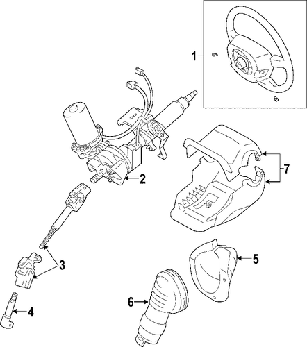 STEERING/STEERING COLUMN for 2007 Toyota RAV4 #1