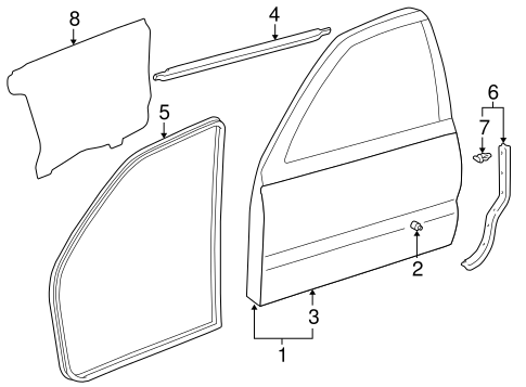 Door Shell - Toyota (67002-35540)
