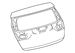 Lift Gate - Toyota (67005-12D10)