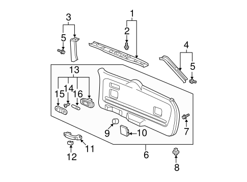 Gate Trim Panel - Honda (84431-S9V-A02ZA)
