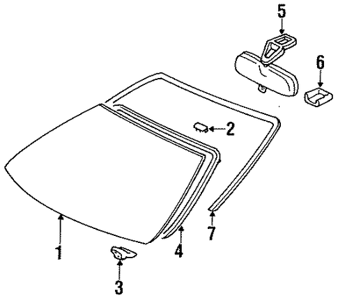 Windshield - Toyota (56111-0W230-83)