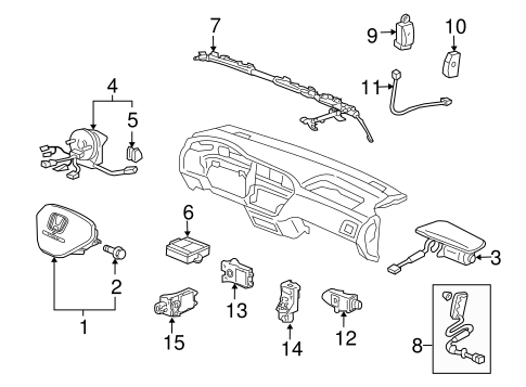 Sensor Assembly, Front Crash (Trw) - Honda (77930-SJC-A71)