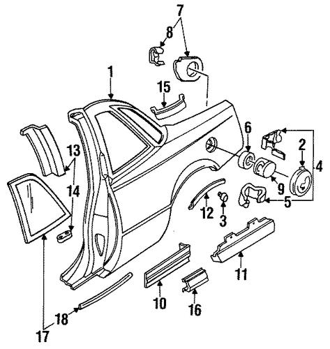 oem quarter panel  u0026 components for 1990 buick regal