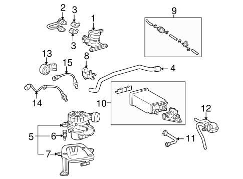 EMISSION SYSTEM/EMISSION COMPONENTS for 2007 Toyota Tacoma #1