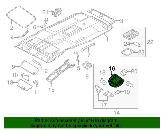 26416 7s010 Map Lamp For 2008 Nissan Armada Nissan Parts Genuine Nissan Parts And Accessories