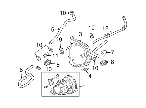 OEM Honda 19517-KM9-000 - Suction Hose Clamp